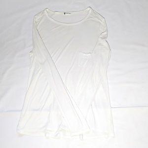 T Alexander Wang White L/S Shirt Sz M